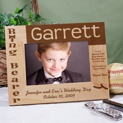 Personalized Ring Bearer Wood Picture Frame
