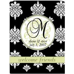 Personalized Damask 2 Sided Garden Flag
