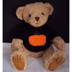 Halloween Pumpkin Sweater Teddy Bear