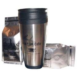 New York Coffee Beans with Thermal Coffee Mug