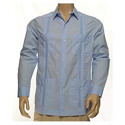 Long Sleeve Cotton Guayabera Shirt