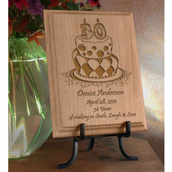 Personalized Birthday Cake Wooden Plaque