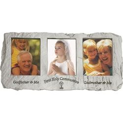 Godfather and Godmother Triple Communion Frame