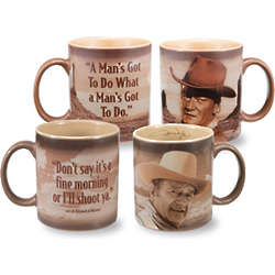John Wayne Wisdom Mug Set of 2