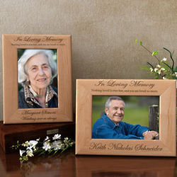 Personalized In Loving Memory Wooden Picture Frame