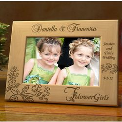 Personalized Our Flower Girls Wooden Picture Frame