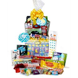 Sweet Dreams Baby Boy Retro Candy Basket