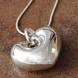 Full of Love Silver Heart Necklace