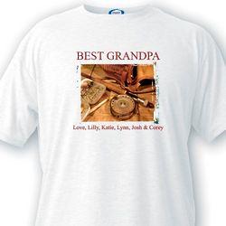 Best Grandpa Fishing T-Shirt