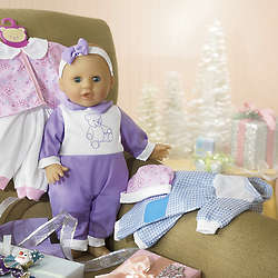 Baby Doll with Outfits Gift Set