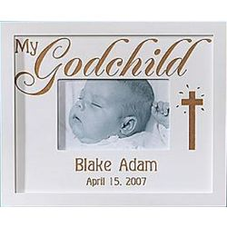 My Godchild Personalized Wood Frame
