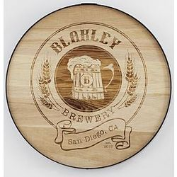 "Personalized 20"" Foaming Mug Beer Barrel Sign"