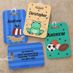 Personalized Boy's Luggage Tags