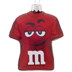 Personalized Red M&Ms T-Shirt Christmas Ornament