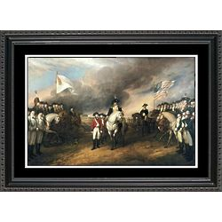 Surrender of Lord Cornwallis Framed Print