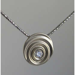 Paper Anniversary Diamond Droplet Necklace
