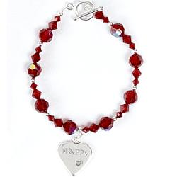 "7"" Crystal Birthstone Bracelet"
