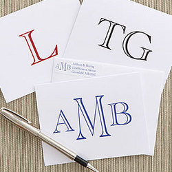 Monogrammed Note Cards and Envelopes