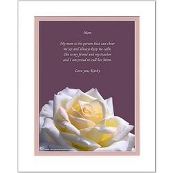 Mom/Like-a-Mom Poem Personalized Rose Print