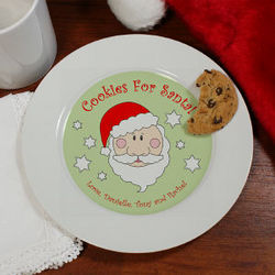 Cookies for Santa Personalized Ceramic Plate