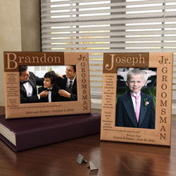 Personalized Junior Groomsman Poem Wooden Picture Frame