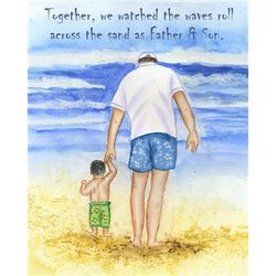 Beach Day with Daddy II Fine Art Print
