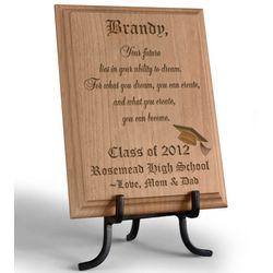 Personalized Congratulations Graduate Wooden Plaque