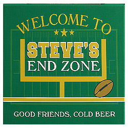 End Zone Personalized Football Bar Wall Art