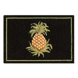 Pineapple Hooked Woolen Rug