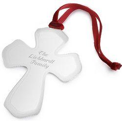 Flat Classic Cross Ornament