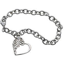 Vintage Style Heart Bracelet