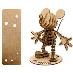 Mini Cardboard Mickey Mouse Puzzle Kit