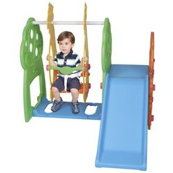 Indoor And Outdoor Swing And Slide Playground