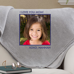 Picture Perfect 1 Photo Personalized Sweatshirt Blanket