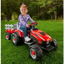 6 Volt Lil Tractor with Trailer Ride-on Toy