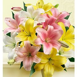 Sweet Spring Lilies Flower Bouquet