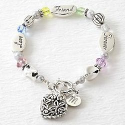 Personalized Friend Heart Charm Bracelet