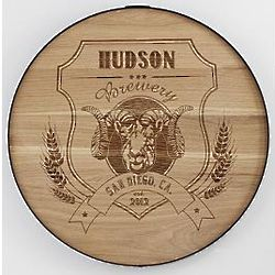 "Personalized 20"" Ram's Head Beer Barrel Sign"