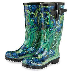 Van Gogh Irises Rain Boots