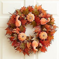 Faux Sugar and Spice Pumpkin Wreath