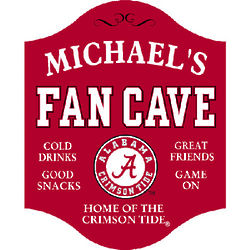 Alabama Crimson Tide Personalized Fan Cave Sign