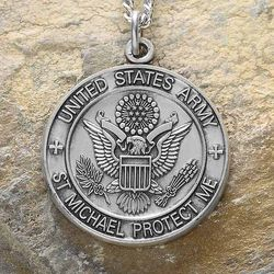 Personalized St. Michael Army Medallion