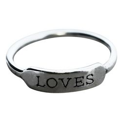 Sterling Silver Loves Inspire Ring