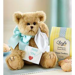 Bearington Beary Blue Miss You Teddy Bear and Cookies