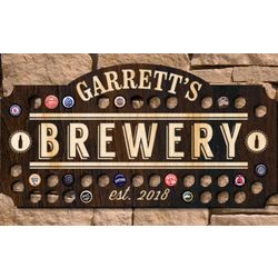 Home Brewery Personalized Beer Cap Wall Sign