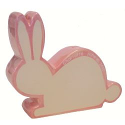 Personalized Silhouette Bunny Bank in White