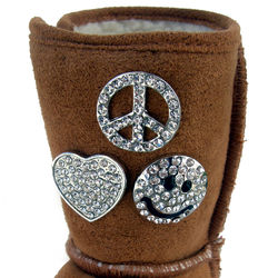 Cubic Zirconia Accessory Pins for Uggs & Backpacks