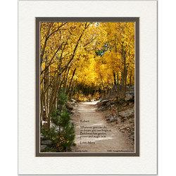 Inspirational Poem Personalized Aspen Path Print