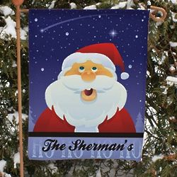 Santa Personalized Christmas Garden Flag