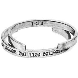 Binary Code Pewter Cuff Bracelet